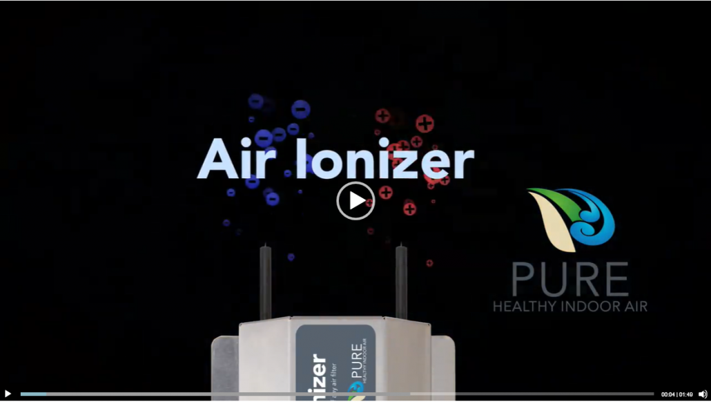 Play video to learn more about the Air Ionizer by Pure Indoor Air