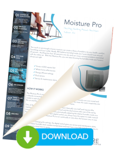 Balance your indoor humidity with the Moisture Pro from Pure Indoor Air